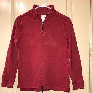 Red J Crew Boys half zip pullover